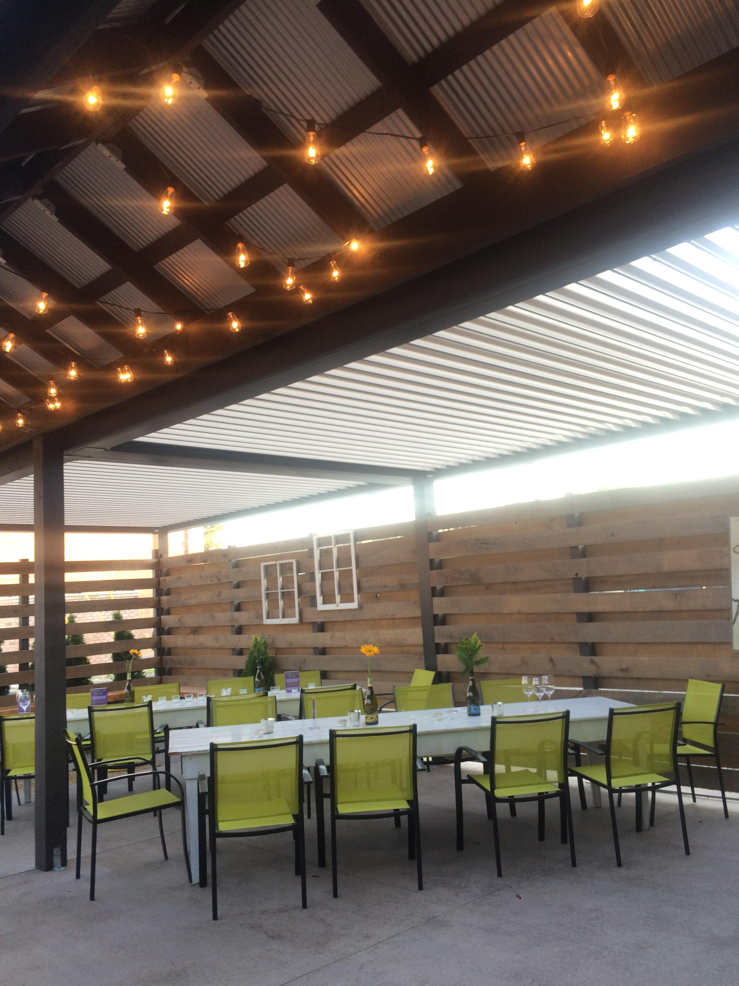 Carmel, IN - Peace Water Winery - Patio cover - Attached