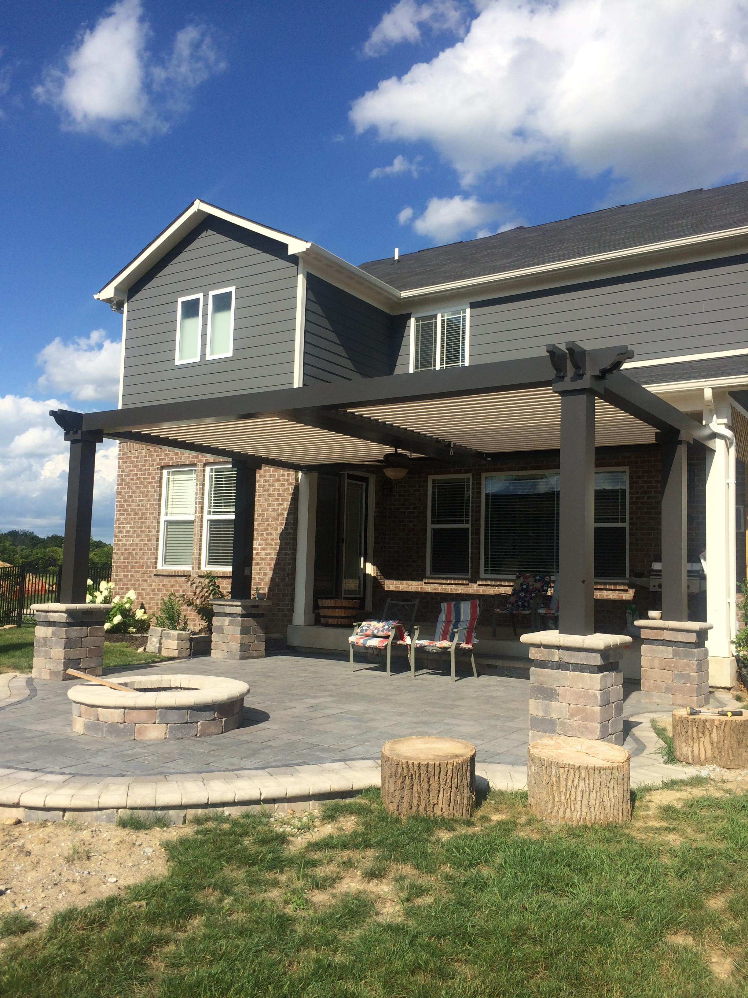 Zionsville, IN.  Patio cover - Free standing