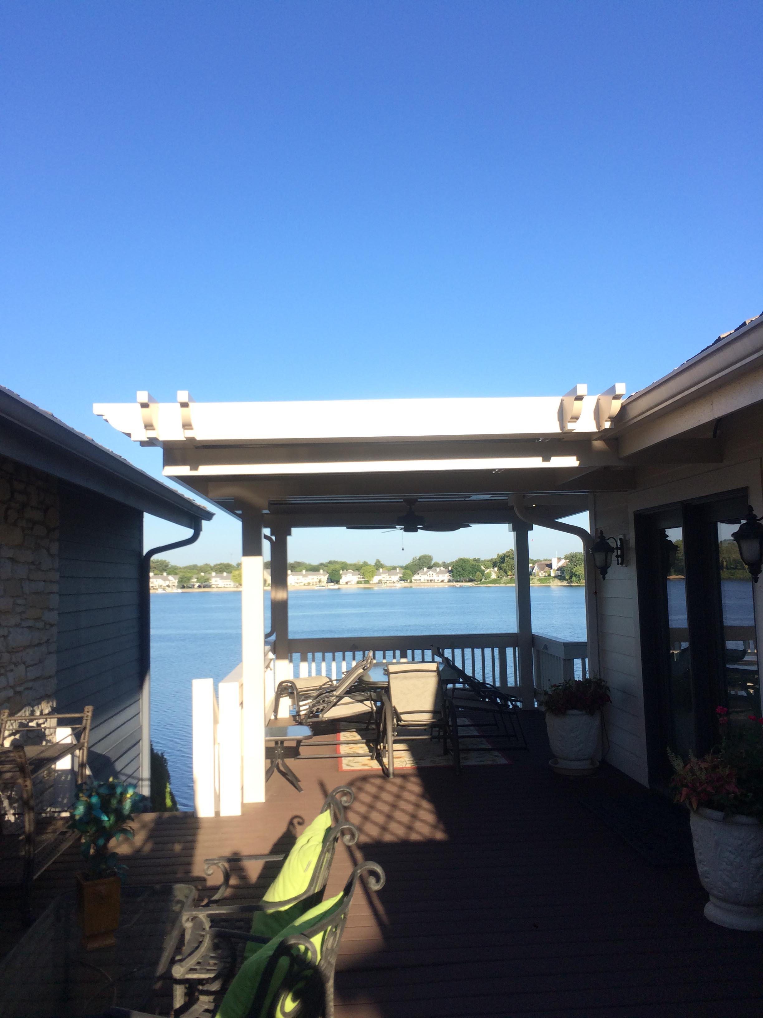 Indianapolis, IN - Deck cover - with substructure attached to house