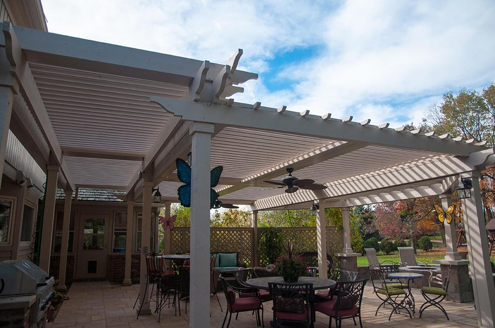 Carmel, IN.  Patio cover - retrofit - Free standing