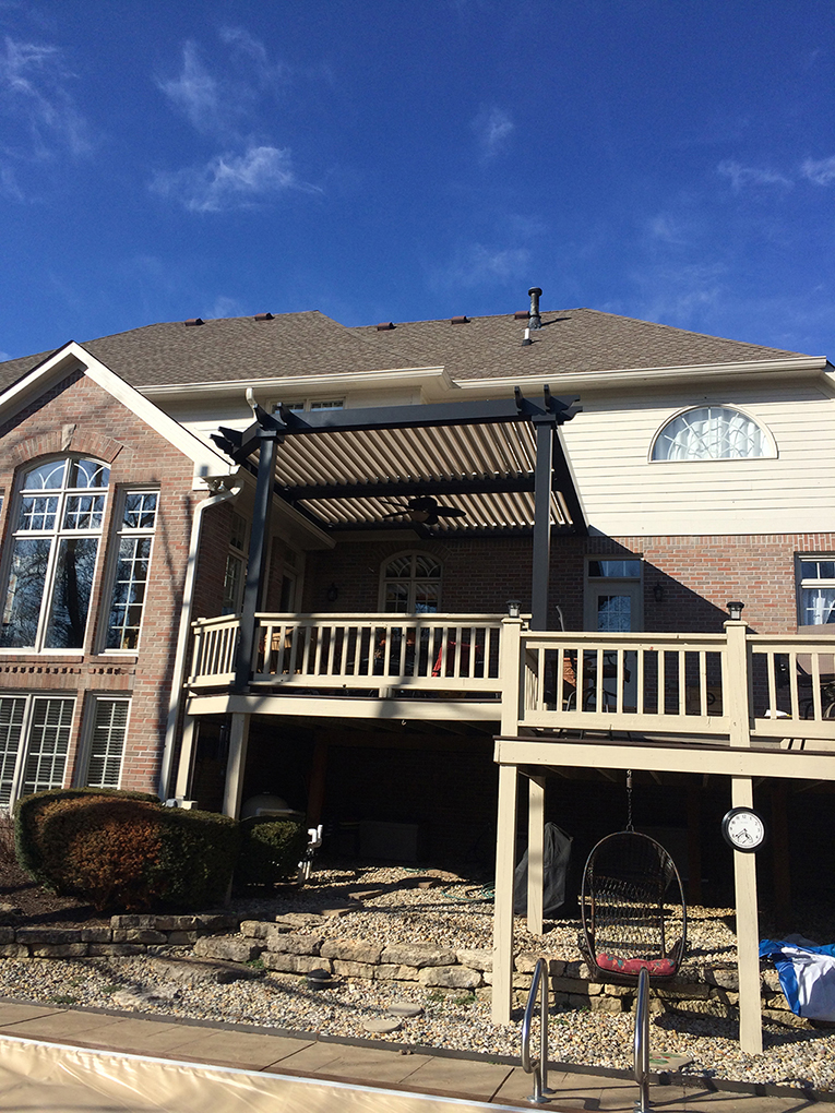 Carmel, IN - Deck cover - Attached and roof mount