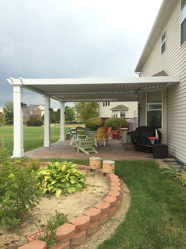 Westfield, IN. Patio cover
