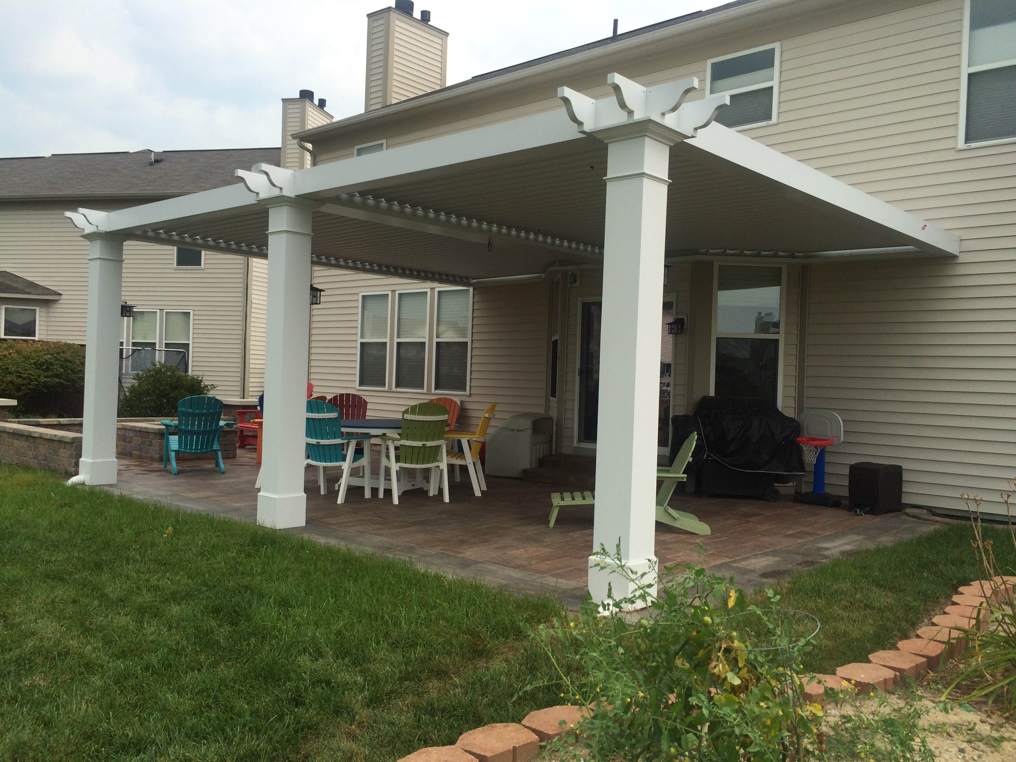 Westfield, IN. Patio cover - Attached